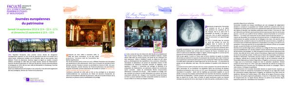 Journées du patrimoine 2017 - Visite commentée du Musée de matière médicale et ouvrages de la Bibliothèque de pharmacie