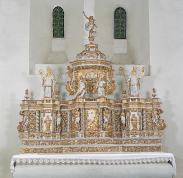 Crédits image : Tabernacle baroque de l'église St-Hilaire de Paizay-le-Sec © Claude Germain, photothèque des musées de Chauvigny