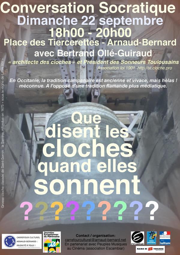 Journées du patrimoine 2019 - Conversation Socratique : Que disent les cloches quand elles sonnent ?