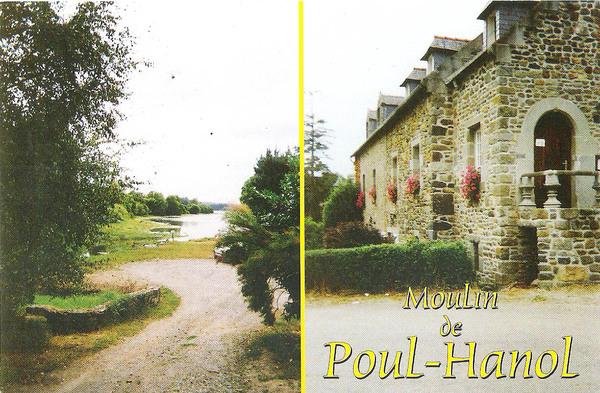 Crédits image : Moulin de Poul-Hanol, carte postale