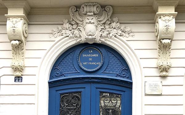 Journées du patrimoine 2020 - Visites guidées des bureaux de la Fondation pour La Sauvegarde de l'Art Français
